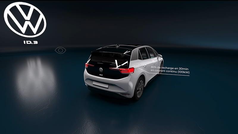 vue 3/4 arriere VW VR